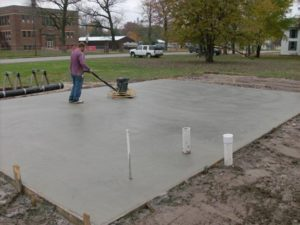 Gulfport concrete pads for RV, sheds, AC, basketball